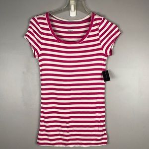 NWT the limited stripes pink tee size small